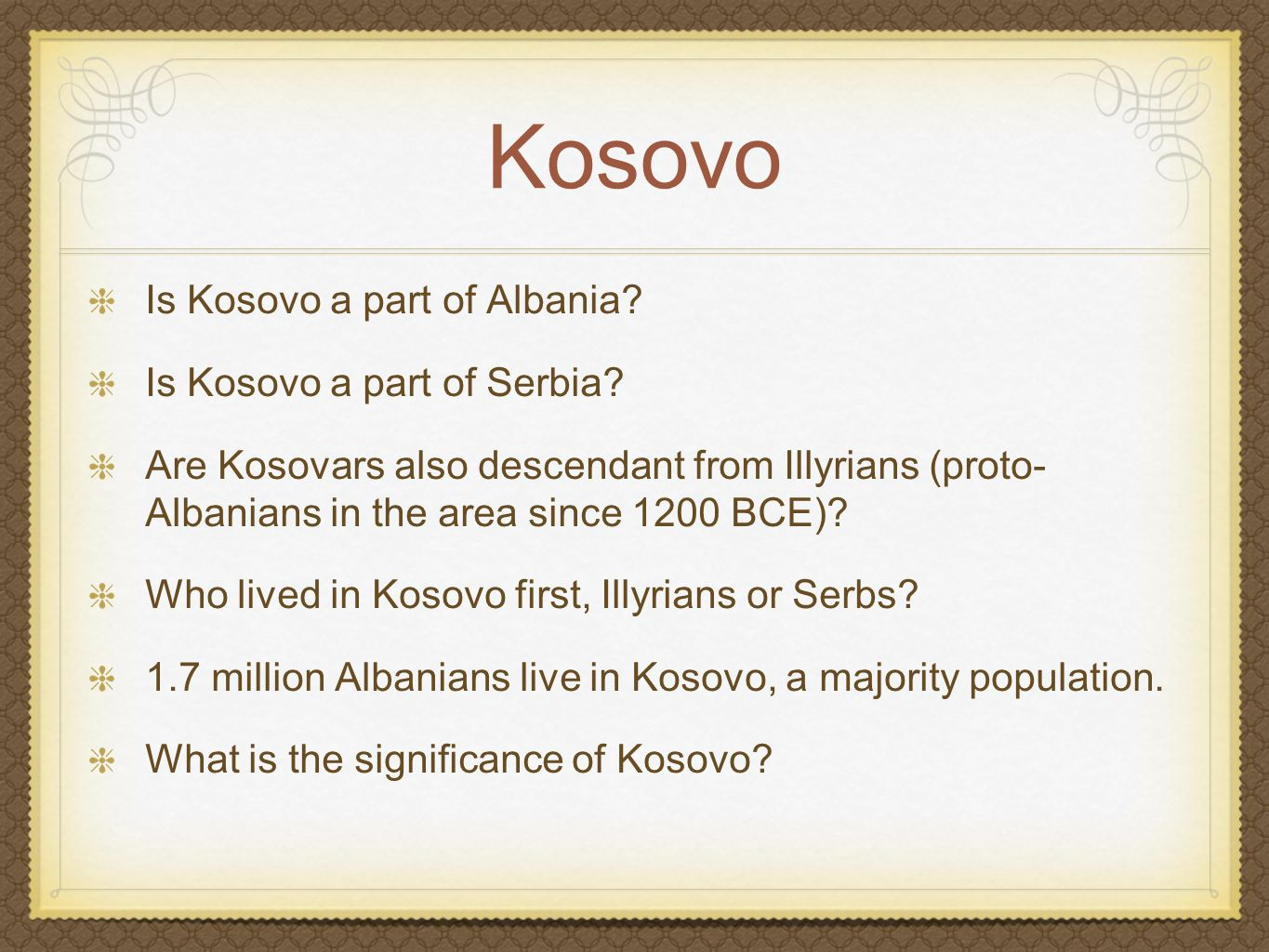 Kosovo Is Kosovo a part of Albania.Is Kosovo a part of Serbia.