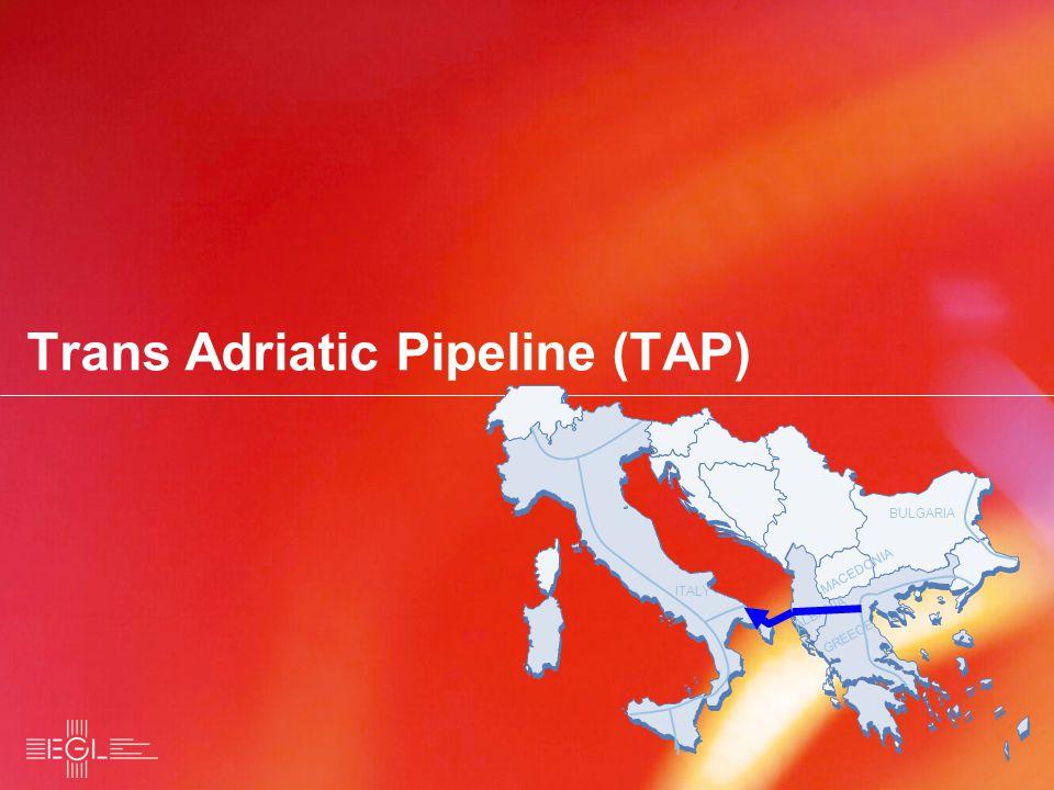 Trans Adriatic Pipeline (TAP) BULGARIA MACEDONIA ALBANIA ITALY BULGARIA MACEDONIA ALBANIA ITALY GREECE