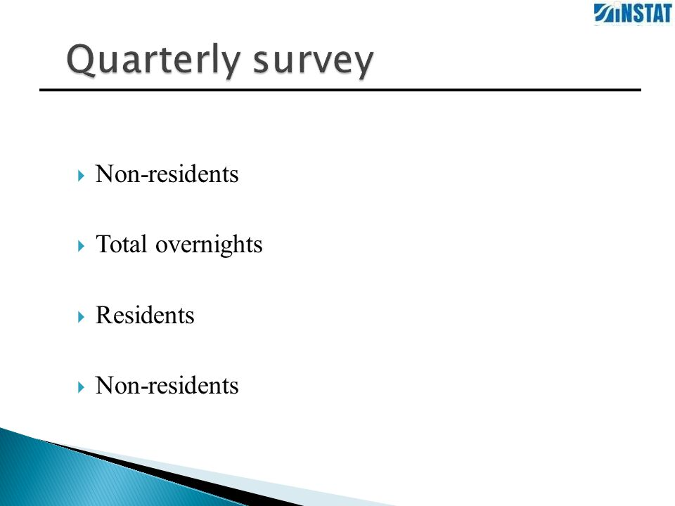  Non-residents  Total overnights  Residents  Non-residents