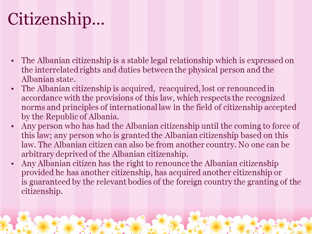 Citizenship...