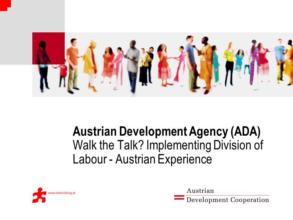 Austrian Development Agency (ADA) Walk the Talk.