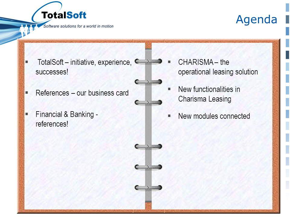 Agenda  TotalSoft – initiative, experience, successes.