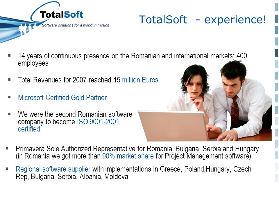TotalSoft - experience.