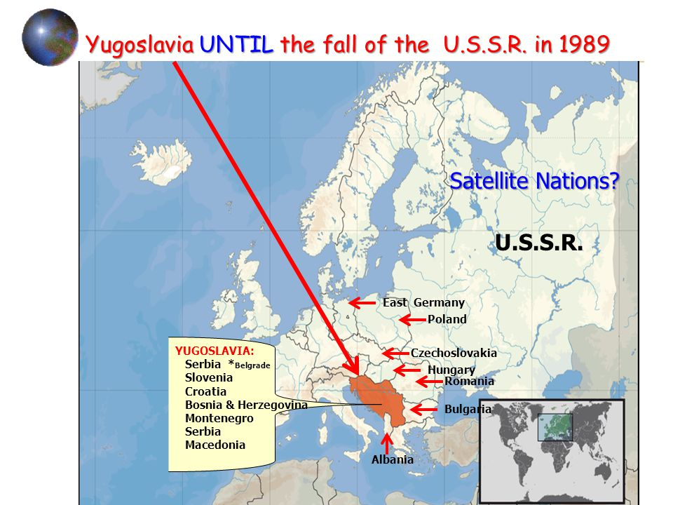 Yugoslavia UNTIL the fall of the U.S.S.R.