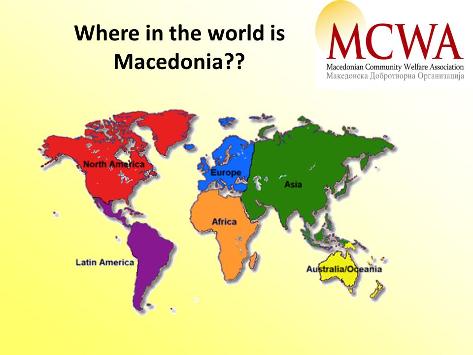 Where in the world is Macedonia??