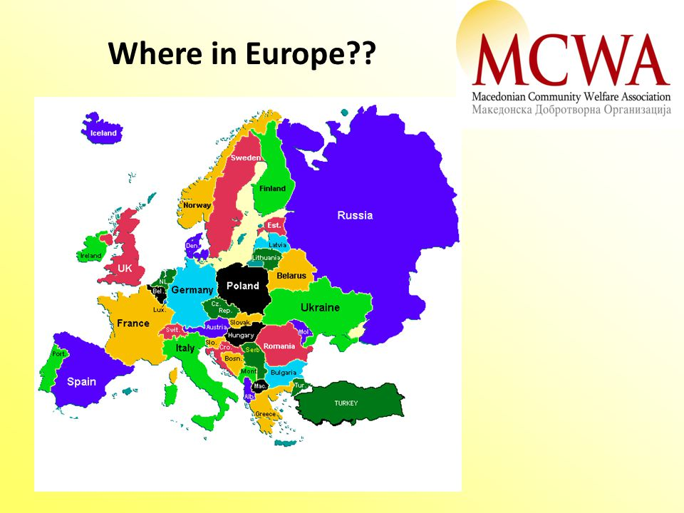 Where in Europe