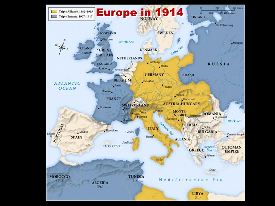 Tensions & Conflicts: 1873-1914 15.The First Balkan War (1912) Montenegro declares war on Turkey (Ottoman Empire), Albania declares independence, Serbia, Montenegro, Greece attack Albania.