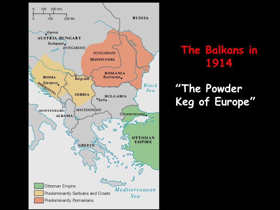 """The Balkans in 1914 """"The Powder Keg of Europe"""""""