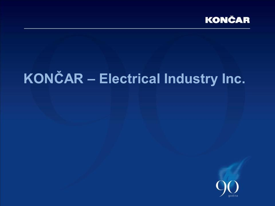 KONČAR – Electrical Industry Inc.