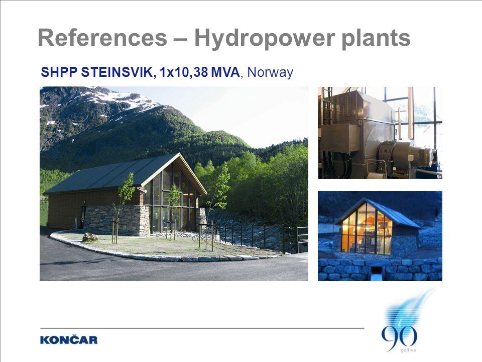 SHPP STEINSVIK, 1x10,38 MVA, Norway