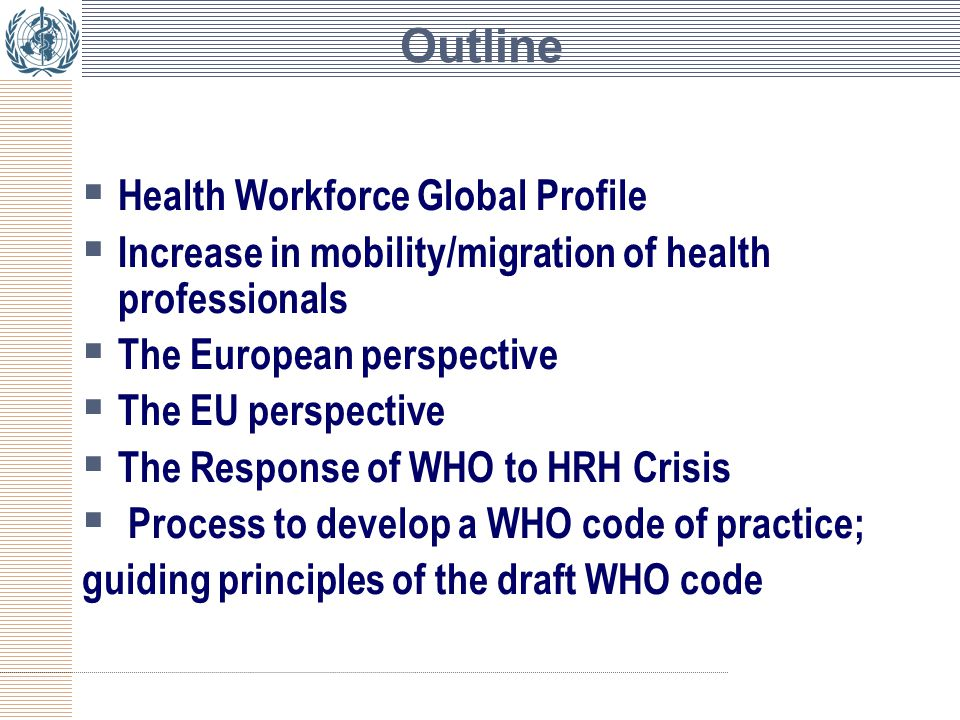 The health workforce crisis Which exactly crisis.