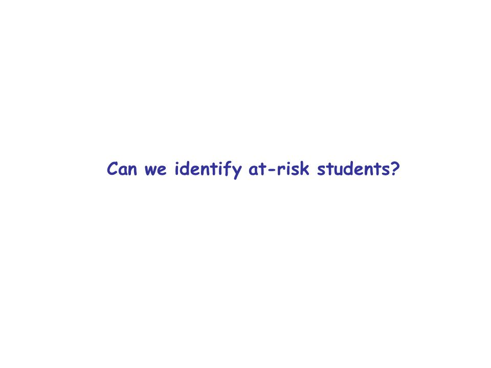 Can we identify at-risk students