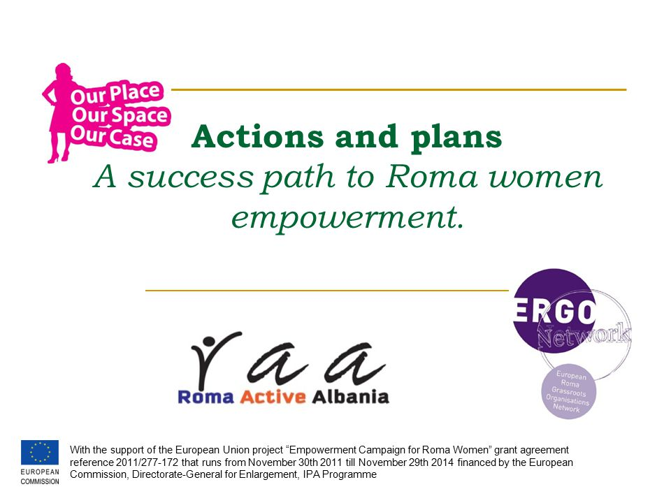 Actions and plans A success path to Roma women empowerment.