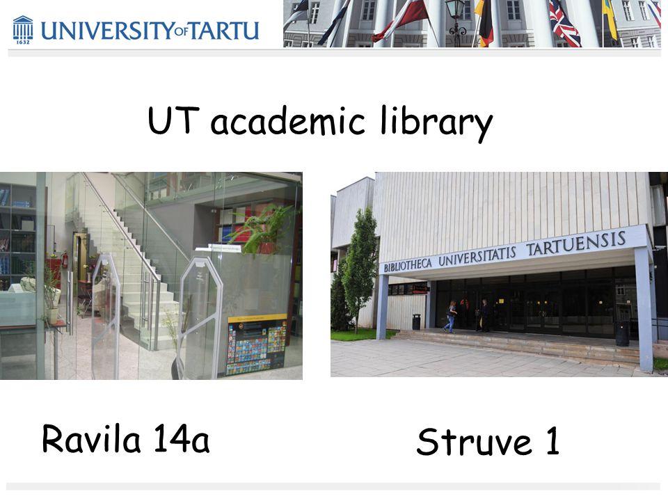 UT academic library Ravila 14a Struve 1
