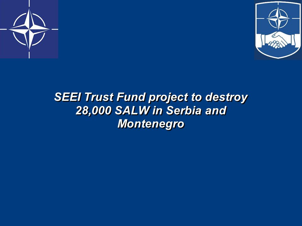 SEEI Trust Fund project to destroy 28,000 SALW in Serbia and Montenegro