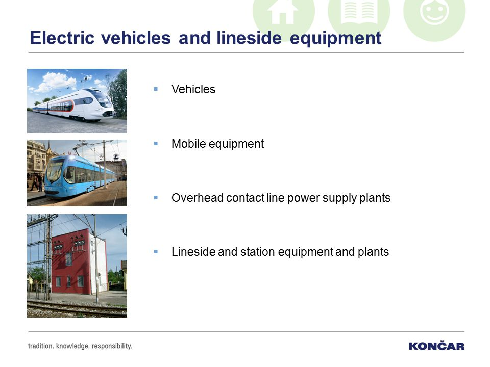 Electric vehicles and lineside equipment  Vehicles  Mobile equipment  Overhead contact line power supply plants  Lineside and station equipment and plants