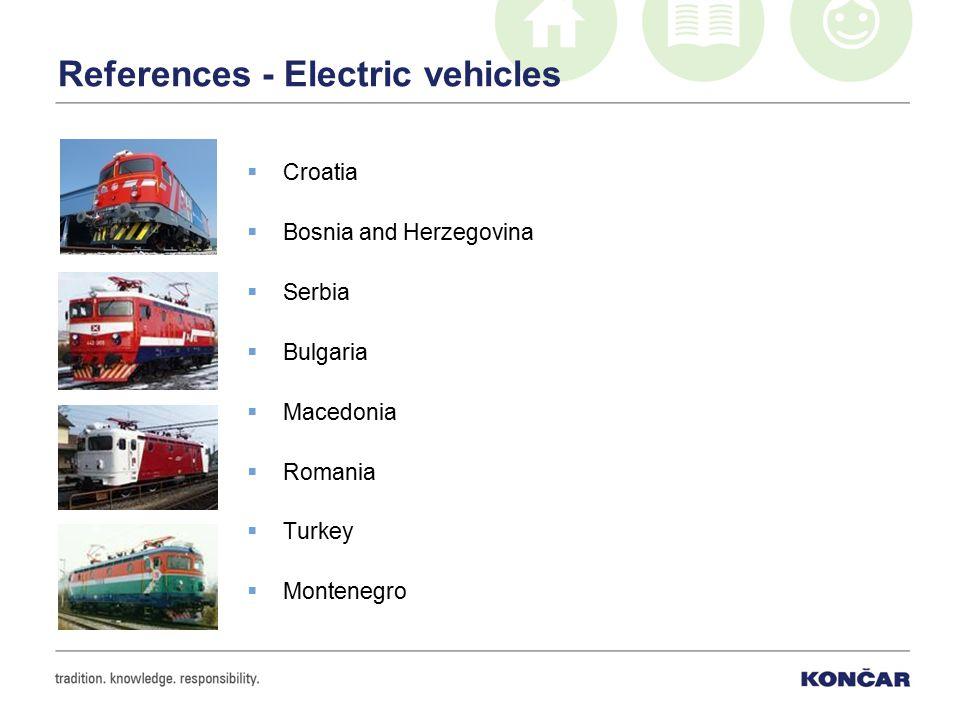 References - Electric vehicles  Croatia  Bosnia and Herzegovina  Serbia  Bulgaria  Macedonia  Romania  Turkey  Montenegro