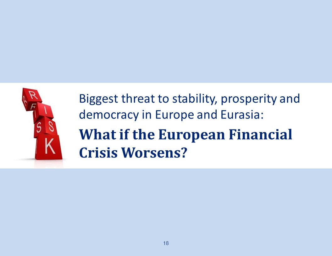 Biggest threat to stability, prosperity and democracy in Europe and Eurasia: What if the European Financial Crisis Worsens.