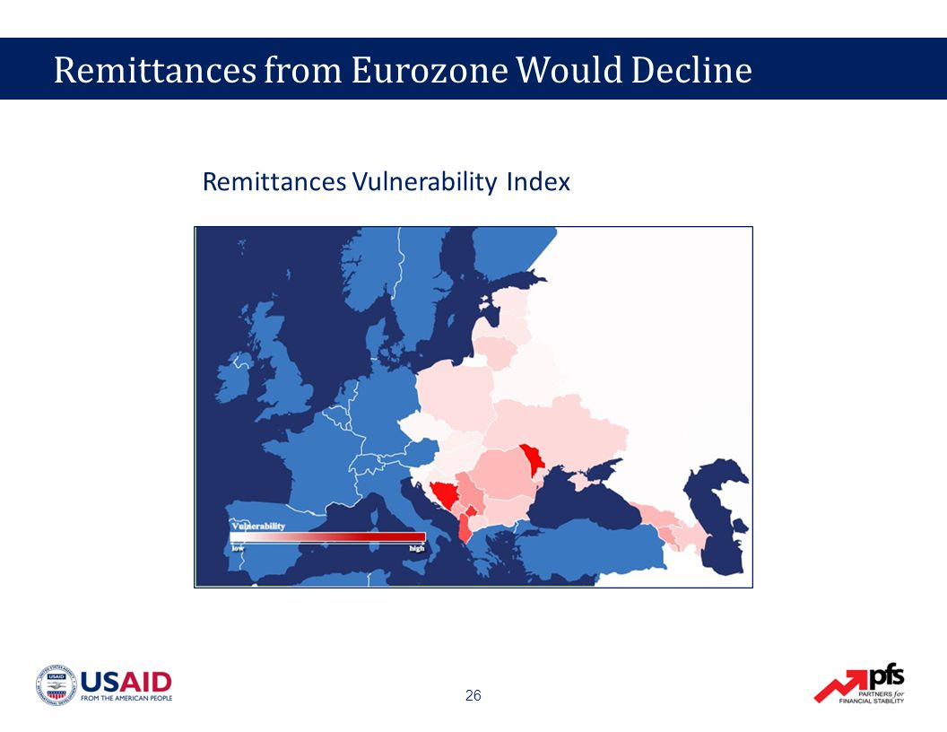 26 Remittances from Eurozone Would Decline Remittances Vulnerability Index