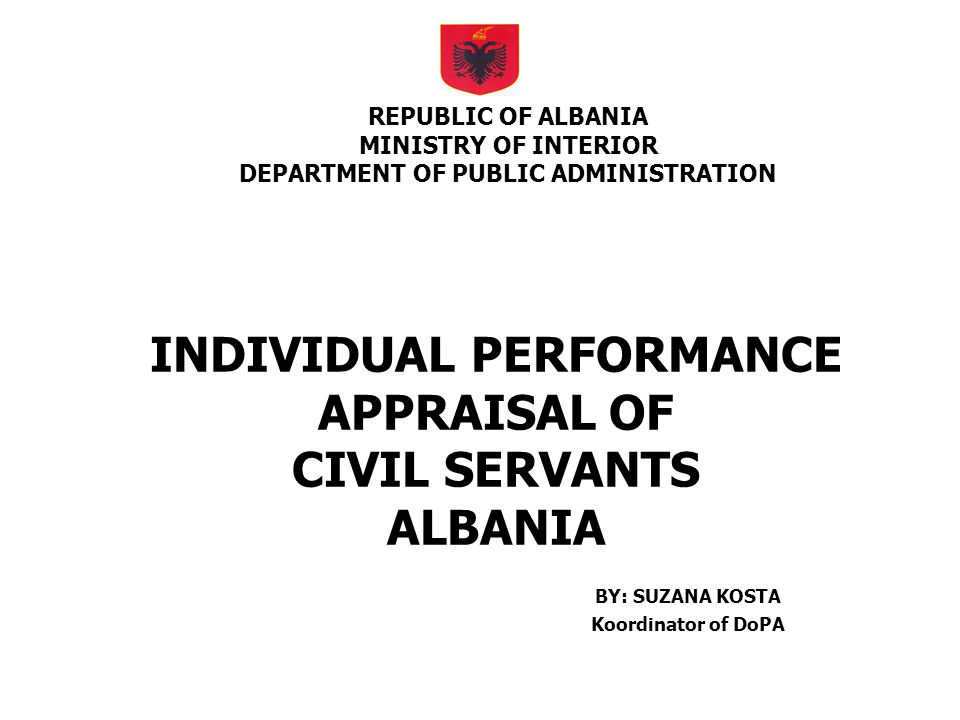 POSSIBLE IMPROVMENTS TO THE SYSTEM (SNRAP) Agreement between superior and subordinate on the latter s objectives; Self-evaluation; Superior and colleague evaluation; Self-development plan;