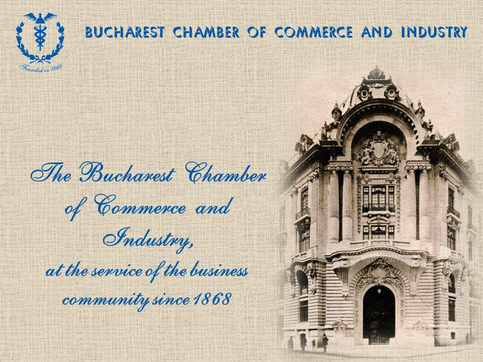 2Octavian Goga Blvd., Sector 3, 030982 Bucharest, Romania, e-mail: office@ccib.ro, www.ccib.ro BUCHAREST CHAMBER OF COMMERCE AND INDUSTRY Main services supplied by the Bucharest CCI Entrepreneurial training and vocational programmes Force majeure certificates (force majeure cases occurred during operation, on the territory of the Bucharest Municipality, based on evidence) Certifying deeds Organisation of training, courses, including in-house programmes for entrepreneurs or company employees involving Romanian and foreign experts Issue of certificates Certificates of origin