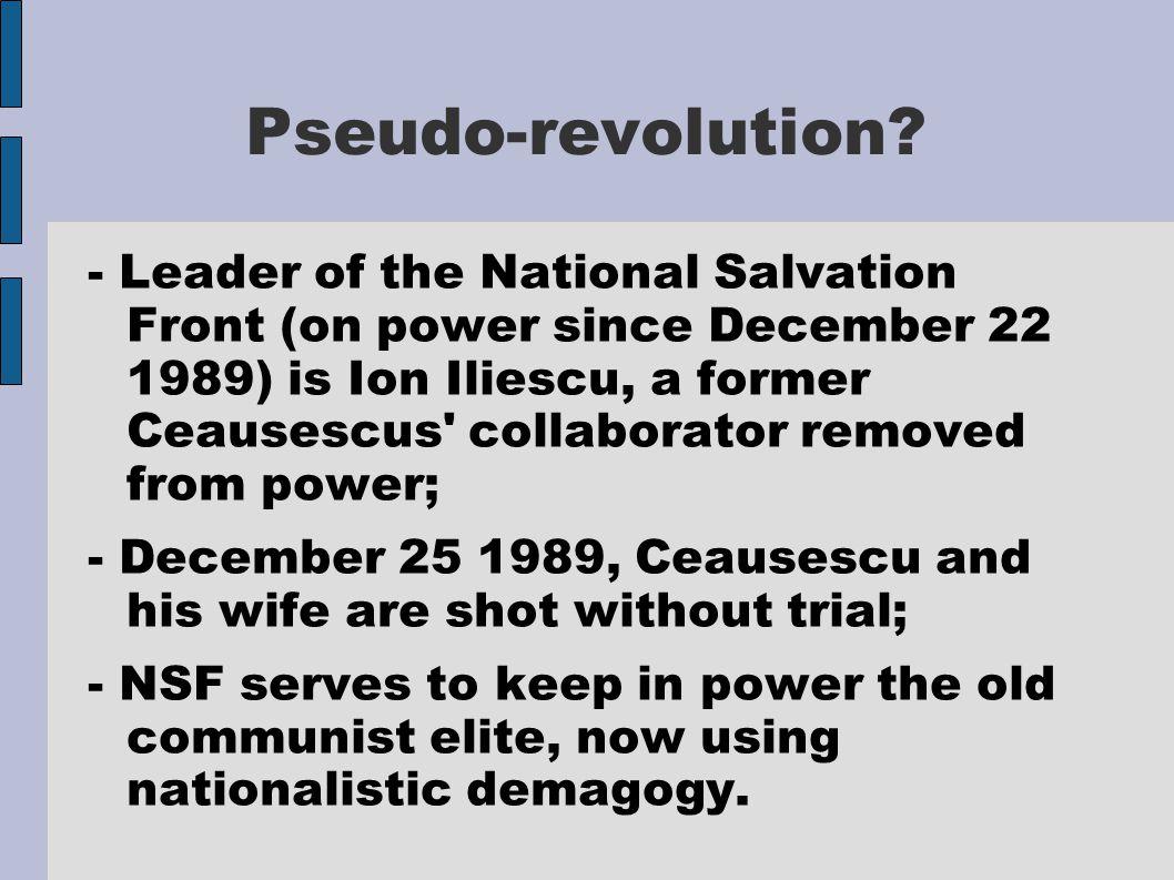 Pseudo-revolution.