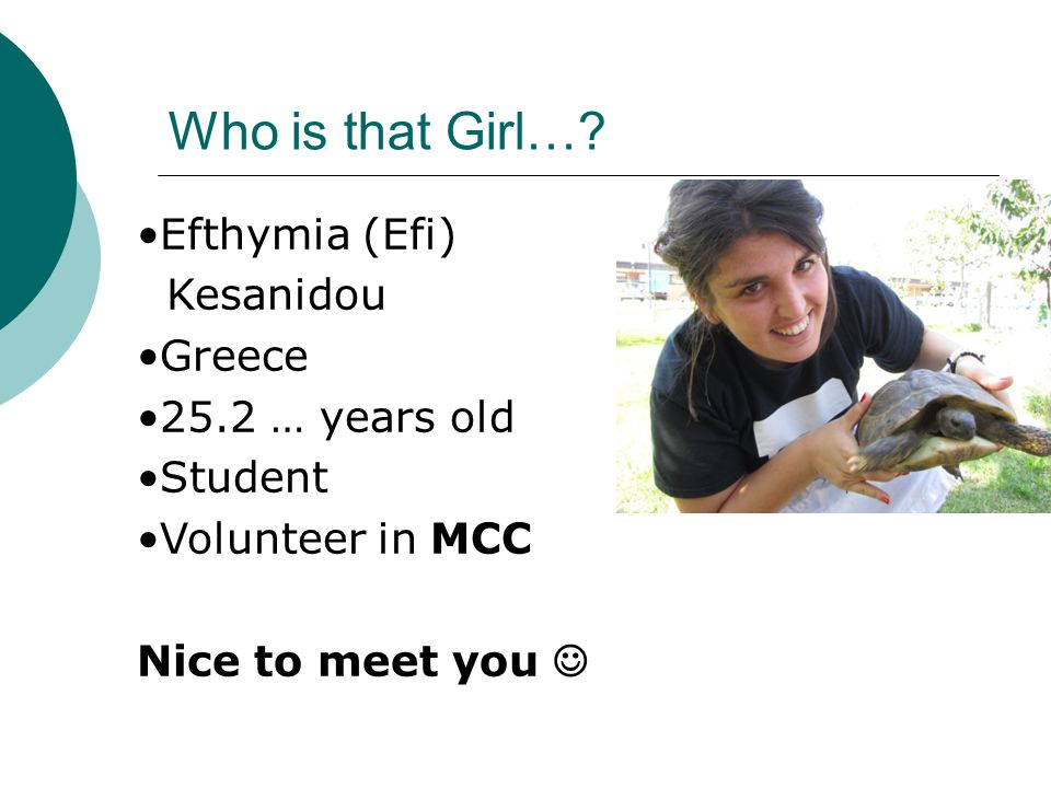 Who is that Girl….