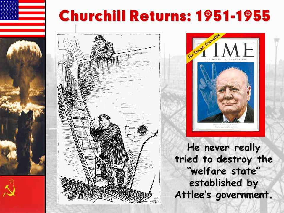 Clement Attlee & the Labor Party: 1945-1951 6.Britain is in a big debt! 7.The beginning of the end of the British Empire.  India – 1947  Palestine –
