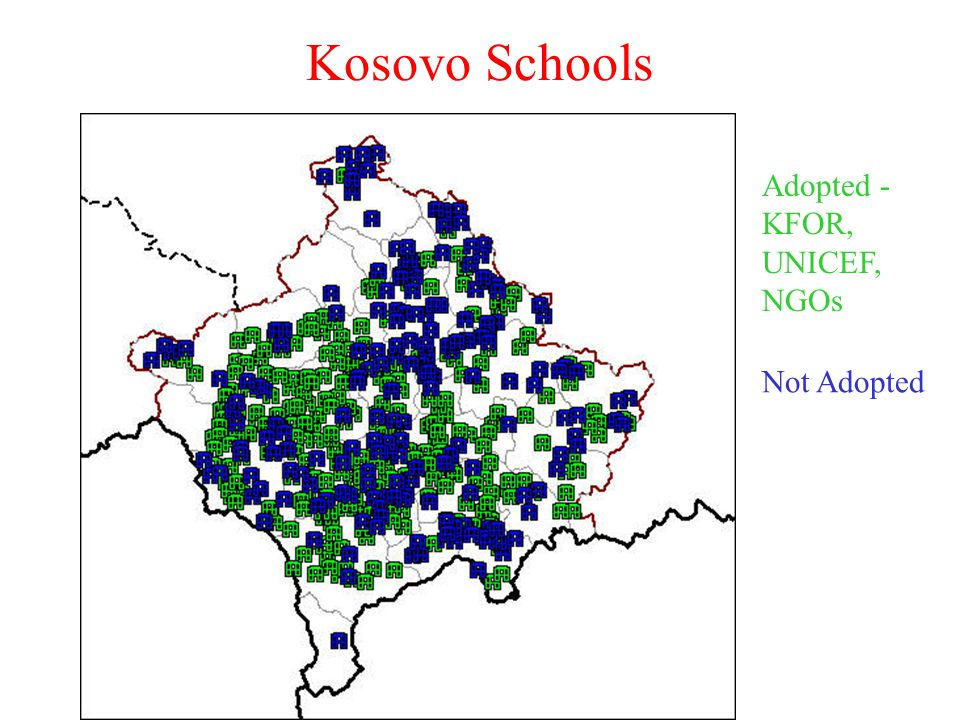 Kosovo Schools Adopted - KFOR, UNICEF, NGOs Not Adopted