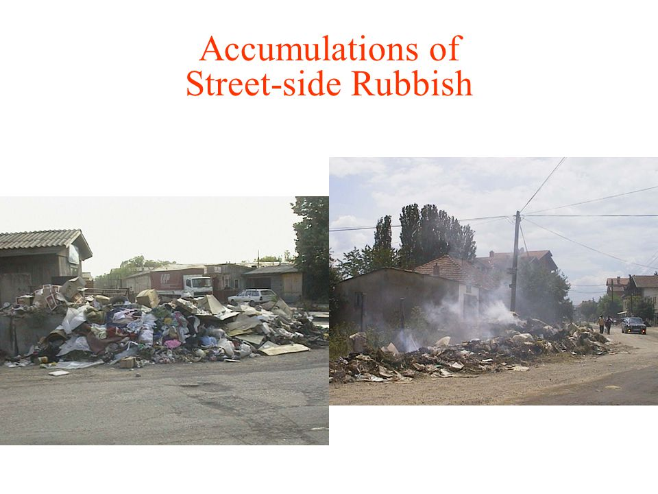 Accumulations of Street-side Rubbish