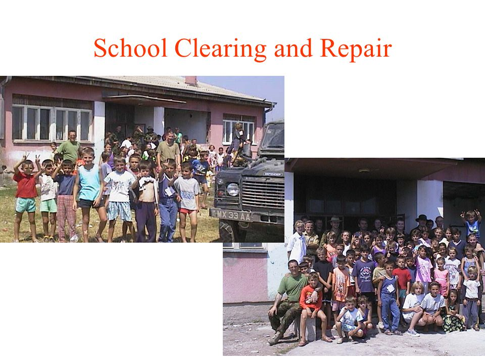 School Clearing and Repair