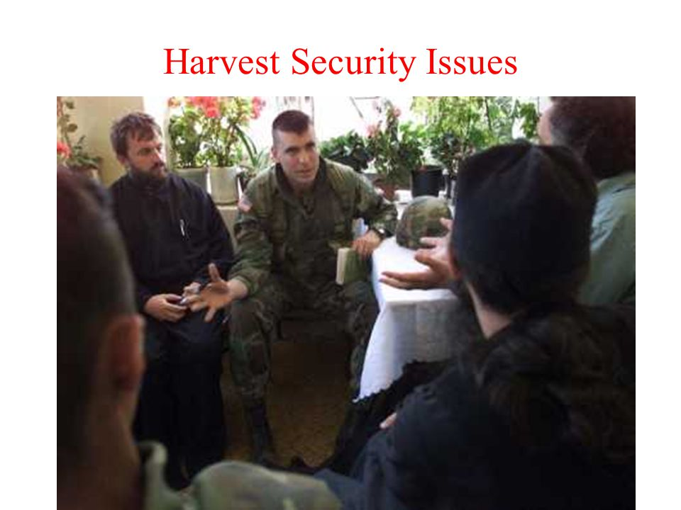 Harvest Security Issues