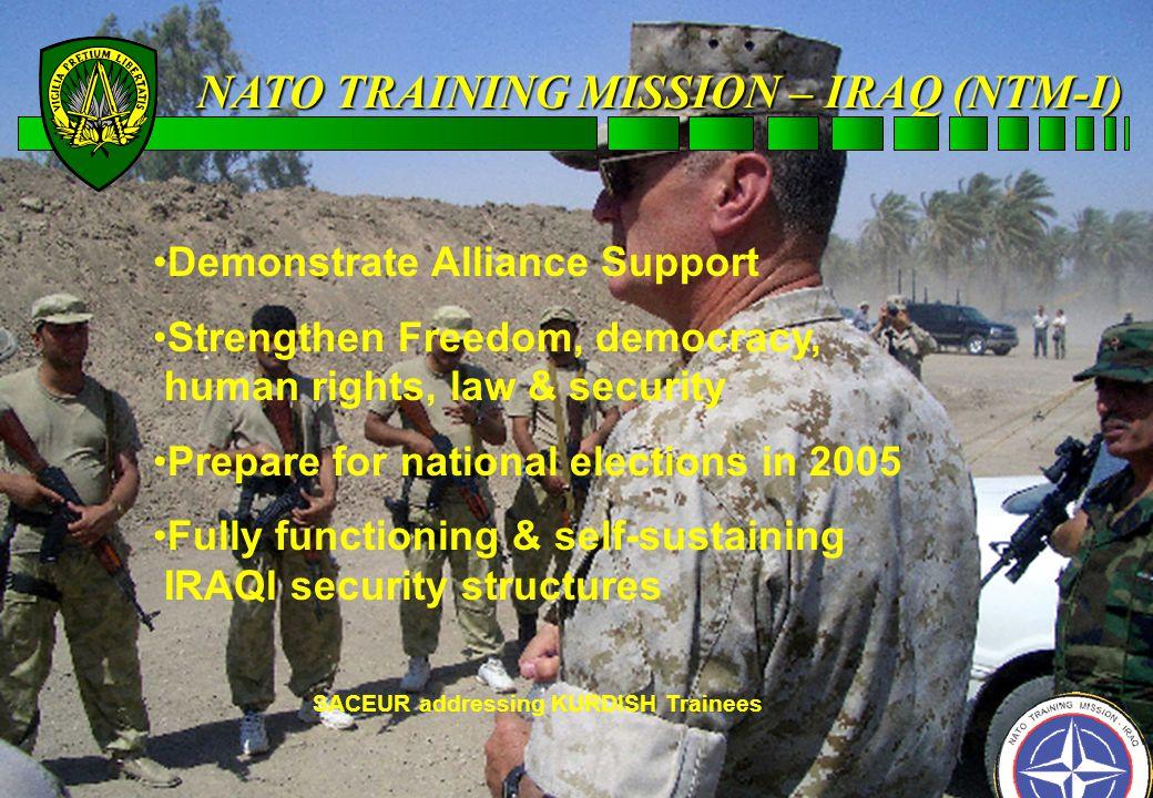 IRAQ NATO TRAINING MISSION-IRAQ (NTIM-I) MISSION-IRAQ (NTIM-I)