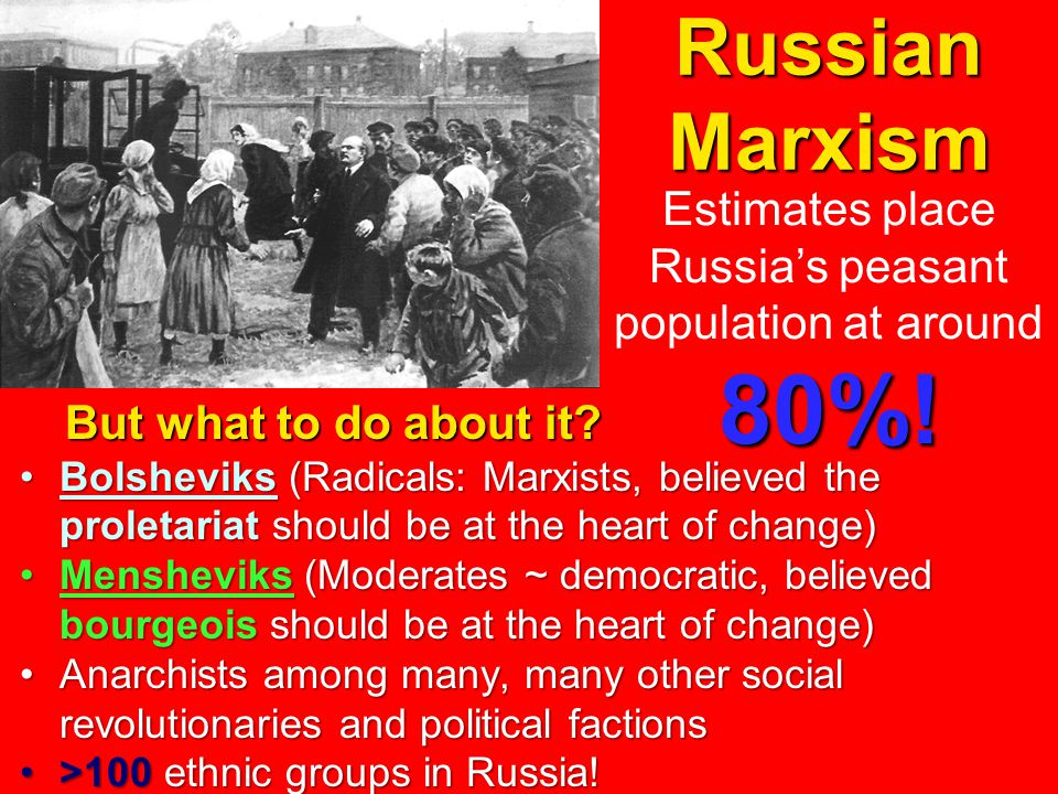 Russian Marxism But what to do about it.
