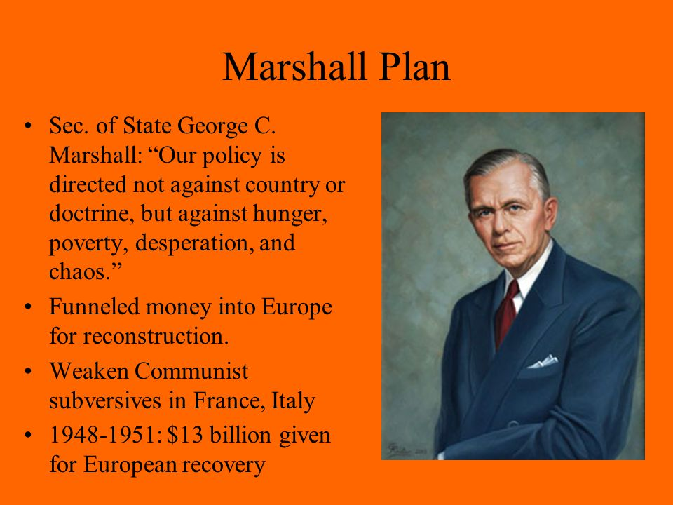 Marshall Plan Sec.of State George C.
