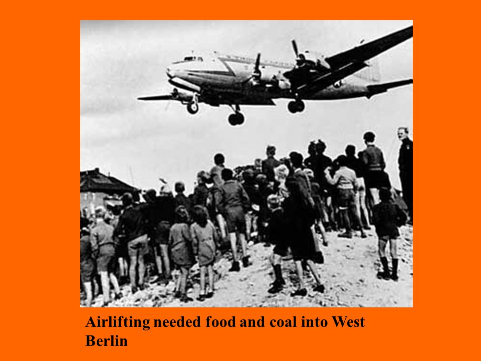 Airlifting needed food and coal into West Berlin