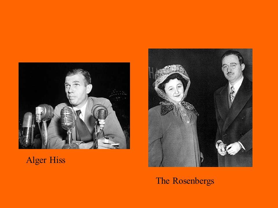 Alger Hiss The Rosenbergs