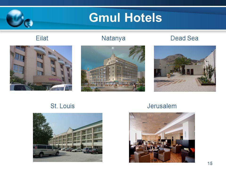15 Gmul Hotels EilatNatanyaDead Sea St. Louis Jerusalem