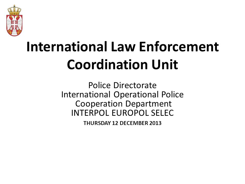 Legal framework The Agreement on the Establishment of the Joint Body for the Development of International Cooperation in Combating Crime (hereinafter the Joint Body) was signed on 10.09.2010 by the Ministers of the Ministries of the Interior, Justice and Finance.