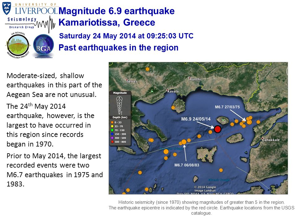 Moderate-sized, shallow earthquakes in this part of the Aegean Sea are not unusual.