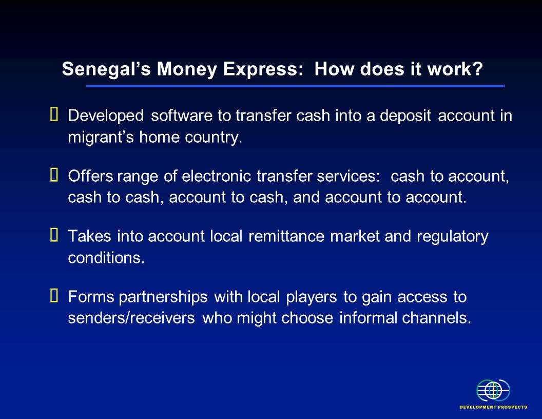 Senegal's Money Express: How does it work.