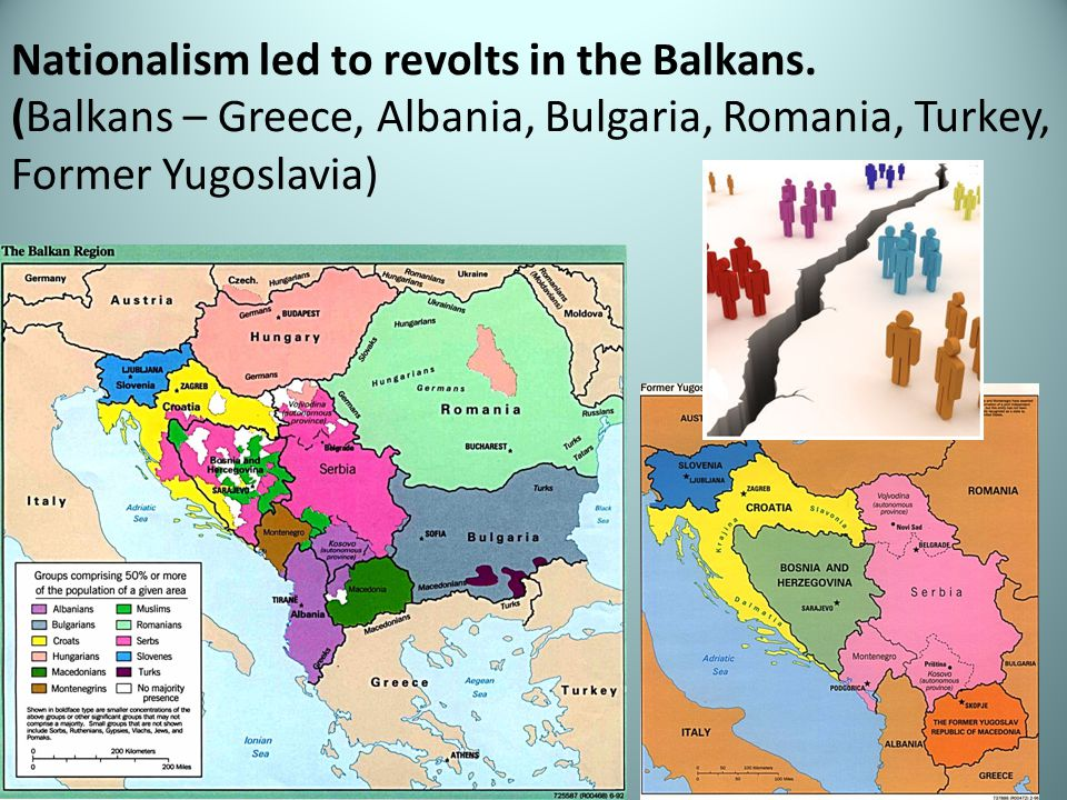 Nationalism led to revolts in the Balkans.