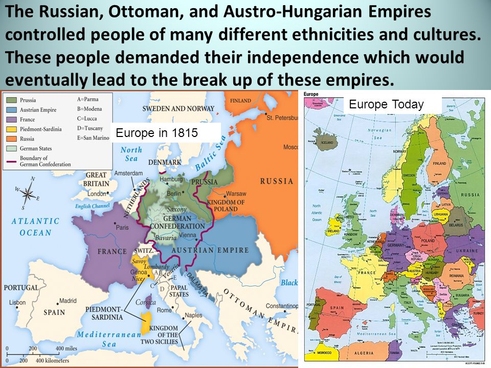 The Russian, Ottoman, and Austro-Hungarian Empires controlled people of many different ethnicities and cultures.
