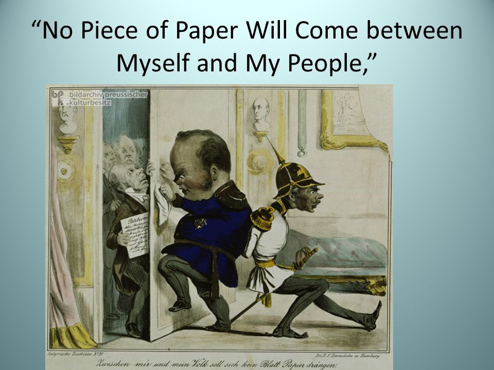 No Piece of Paper Will Come between Myself and My People,