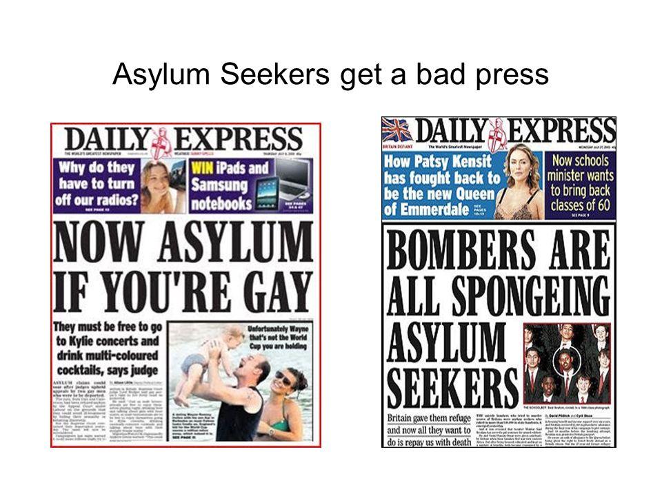 Asylum Seekers get a bad press