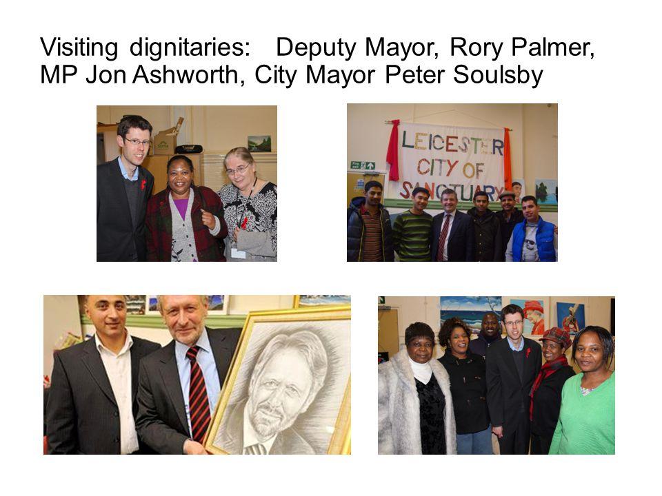Visiting dignitaries: Deputy Mayor, Rory Palmer, MP Jon Ashworth, City Mayor Peter Soulsby
