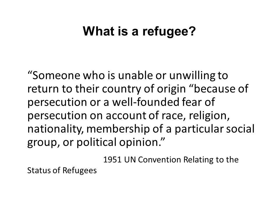 What is an asylum seeker.
