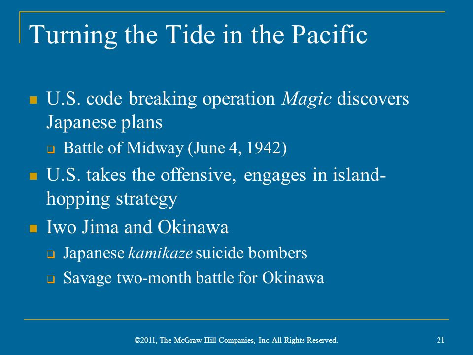 Turning the Tide in the Pacific U.S.