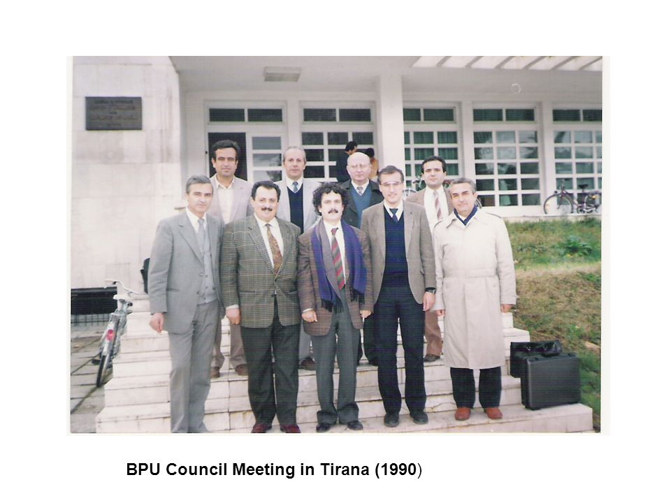 BPU Council Meeting in Tirana (1990)