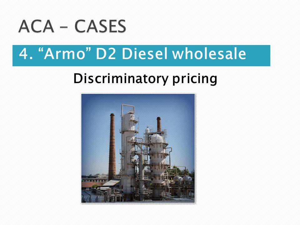 Discriminatory pricing 4. Armo D2 Diesel wholesale